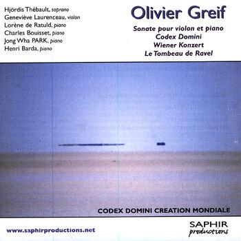 Codex Domini, Sonate Pour Piano (1994, Création Mondiale) cover