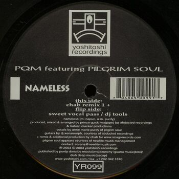 Nameless (Incl. Chab Remix) cover