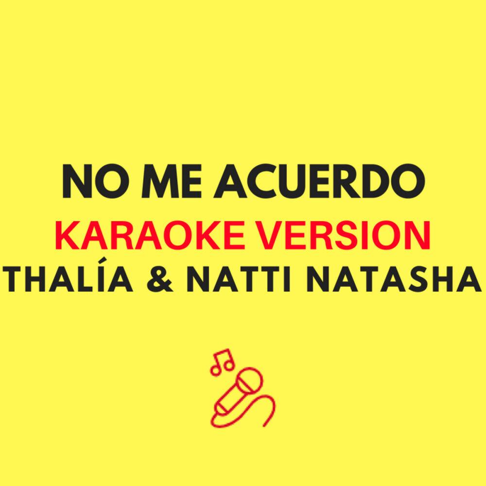 No Me Acuerdo (Karaoke Version)