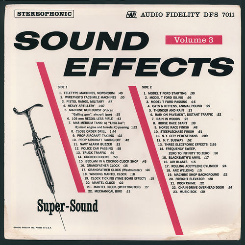 Sound Effects: Sound Effects in Stereo, Vol  3 - Music