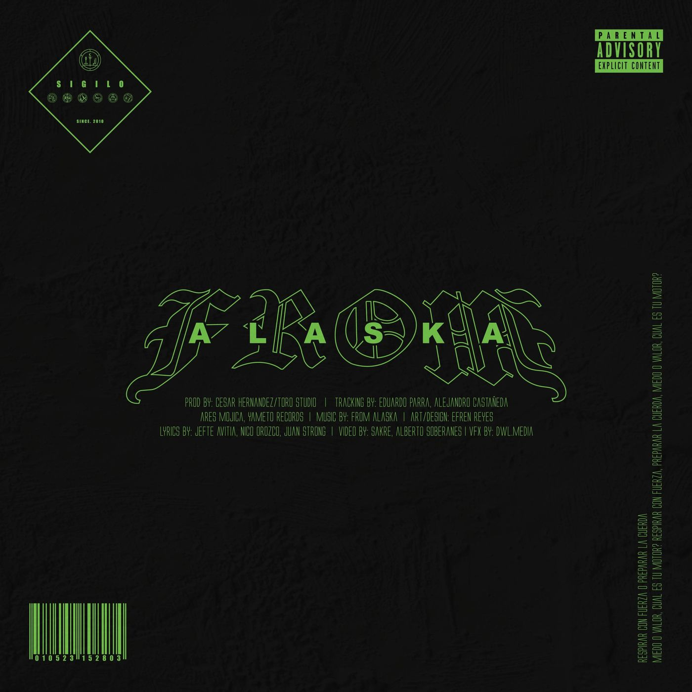 From Alaska - Sigilo [single] (2021)