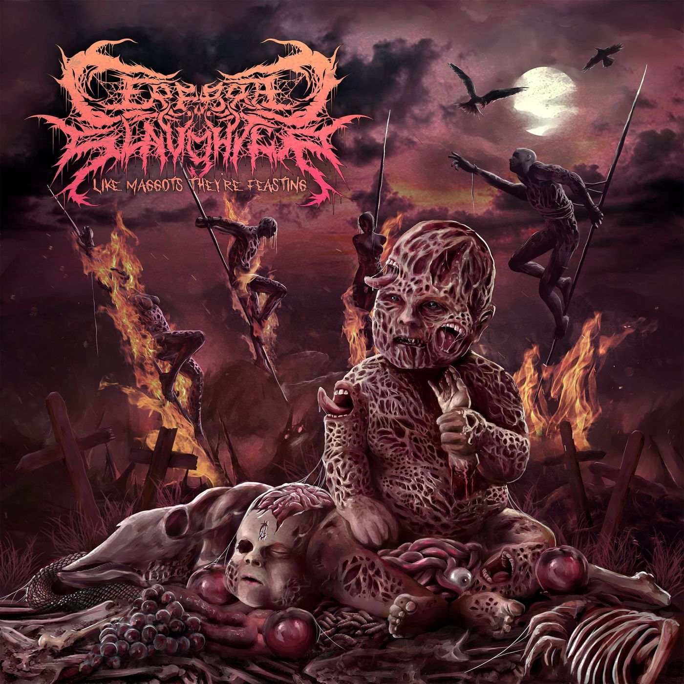 Cerebral Slaughter - Like Maggots They're Feasting [single] (2021)